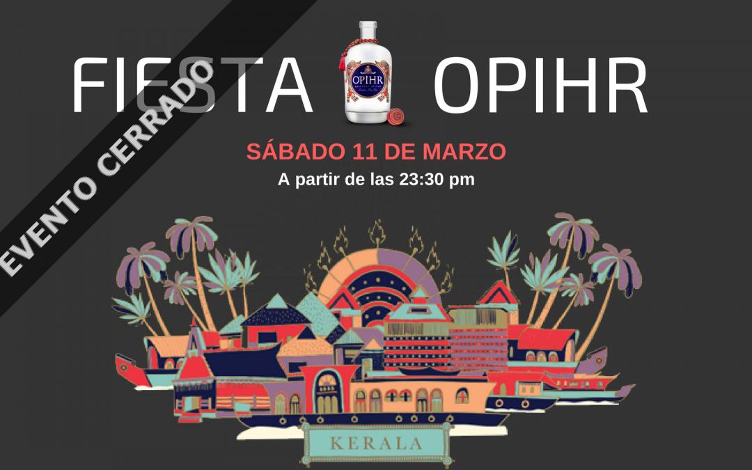 Fiesta Opihr para los amantes de la ginebra